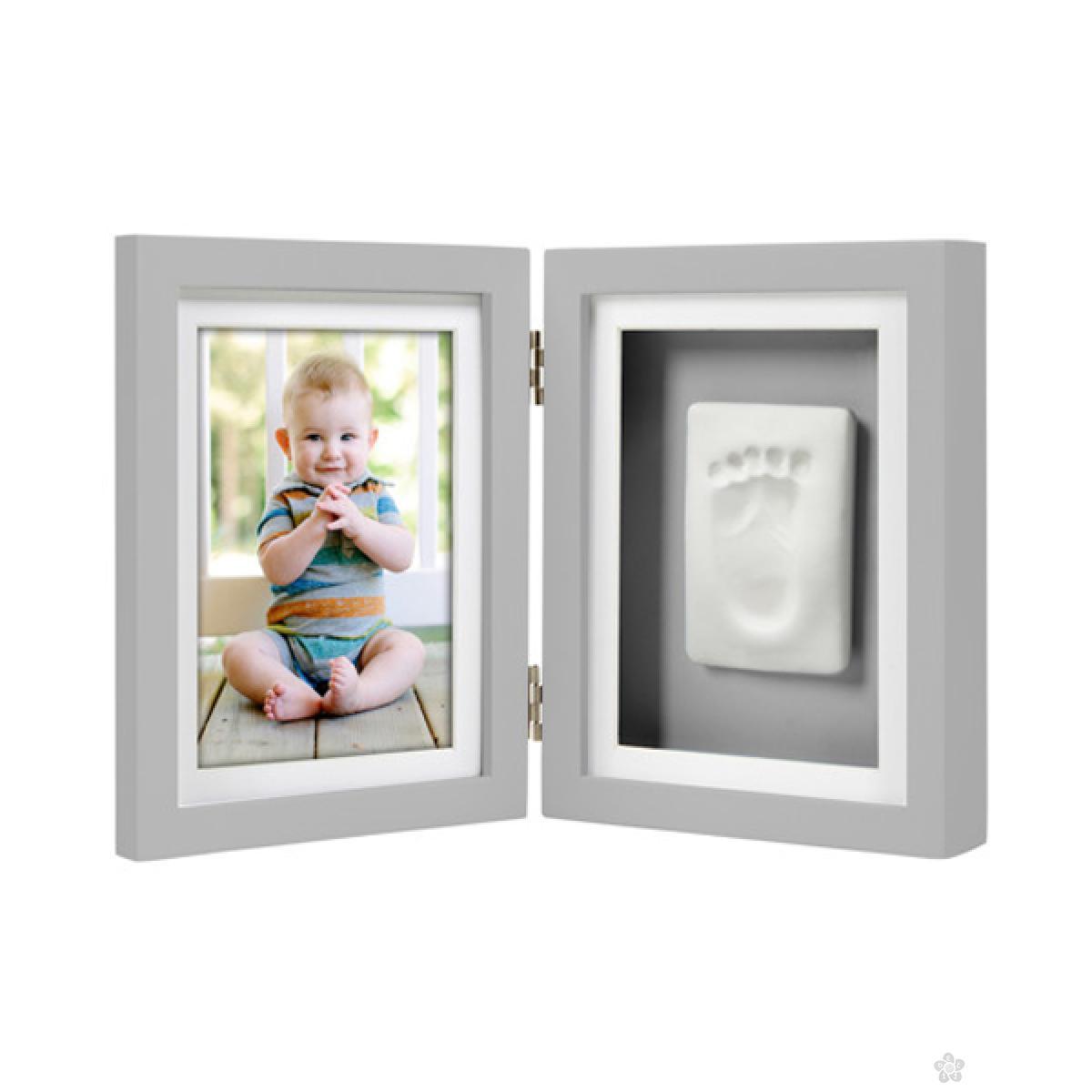 Babyprints stoni ram sa otiskom - sivi  P63005