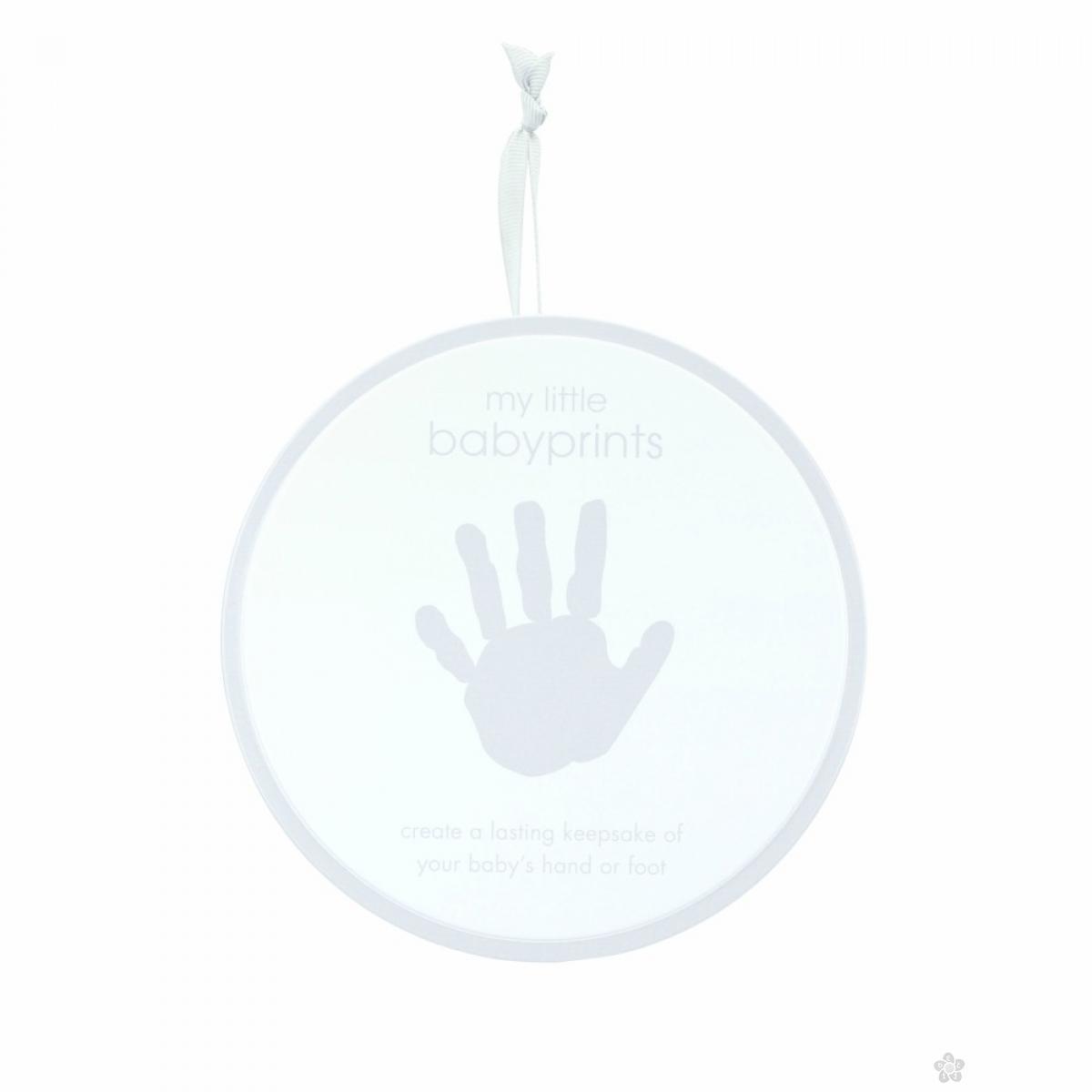 Babyprints kutija sa otiscima siva 82015