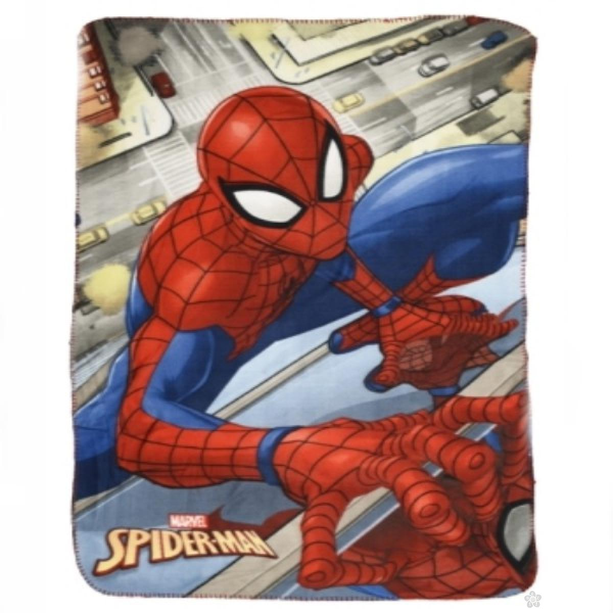 Ćebe Spiderman S07214-sivo