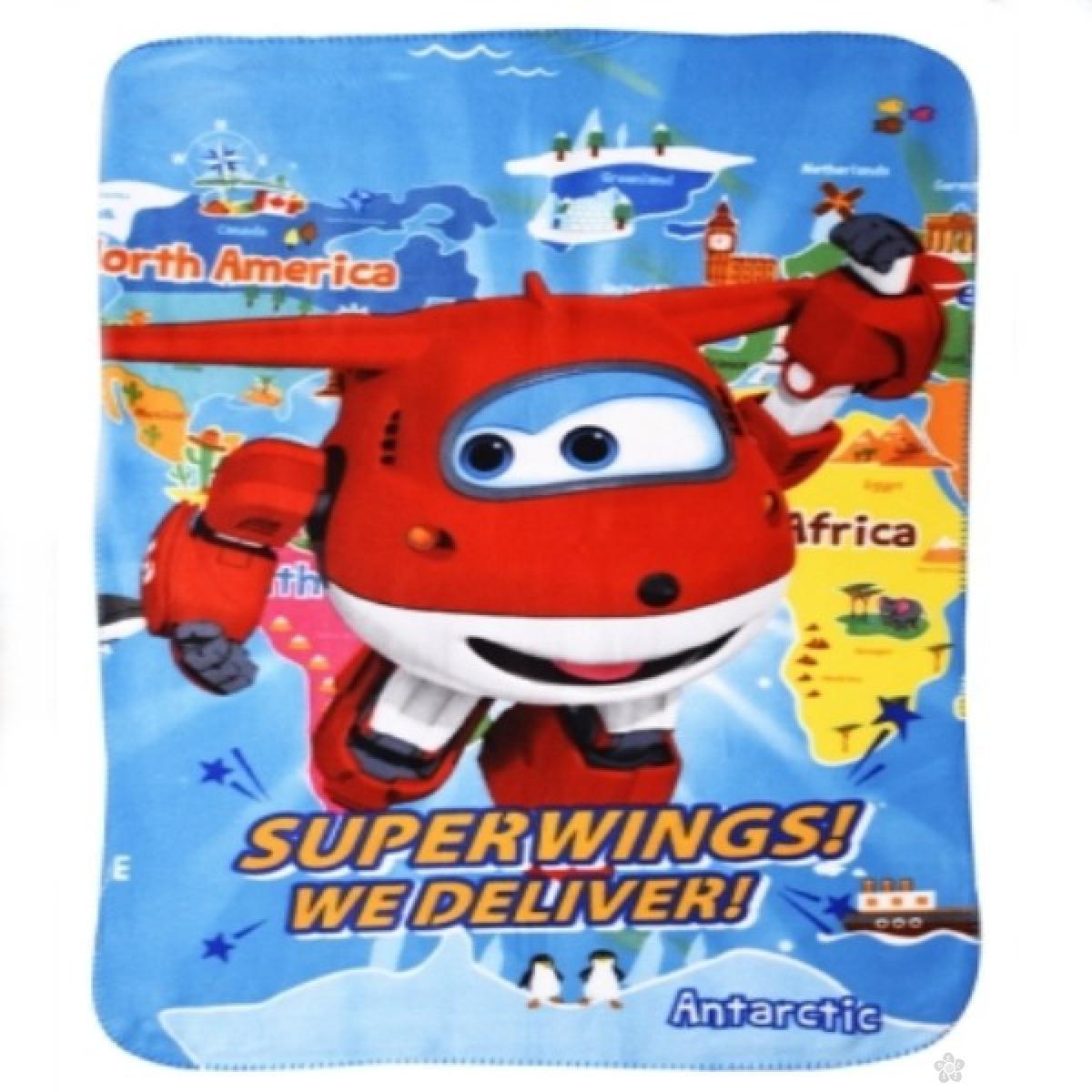 Ćebe Super Wings SU07204, svetlo plavo
