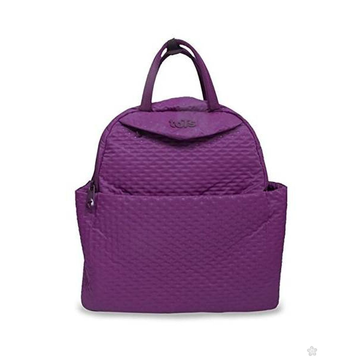 Tots Infinity Torba za Mame Purple Quilt