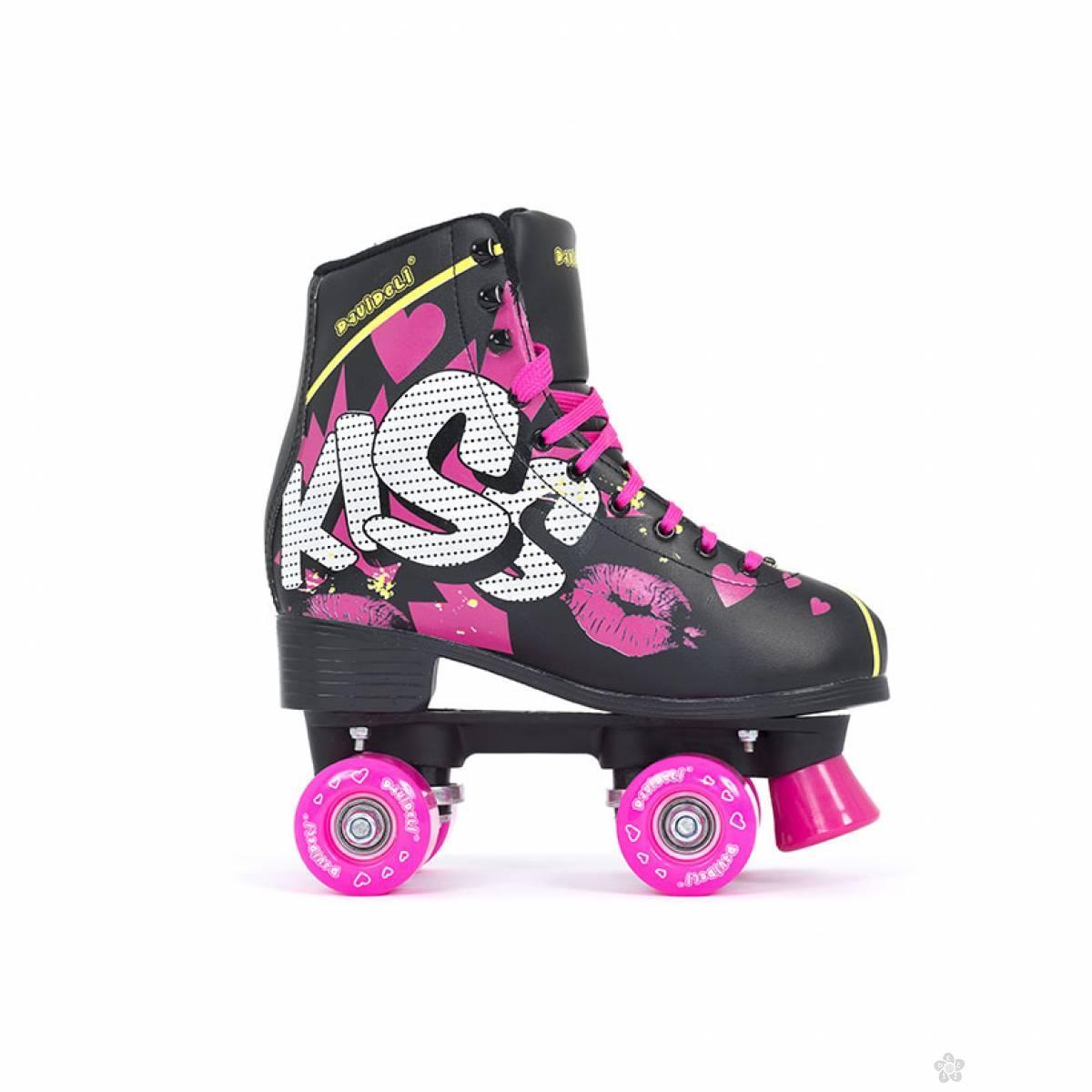 Disko rošule Kiss love crne DVDL400-9883