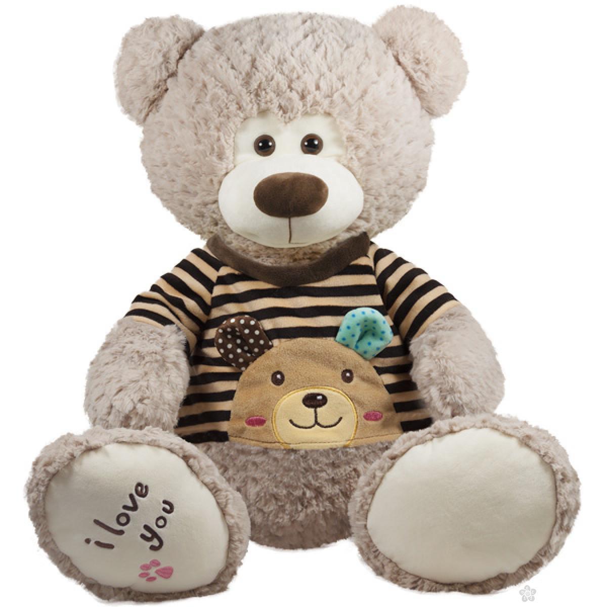 Plišana igračka medved sa braon džemperom, 20015