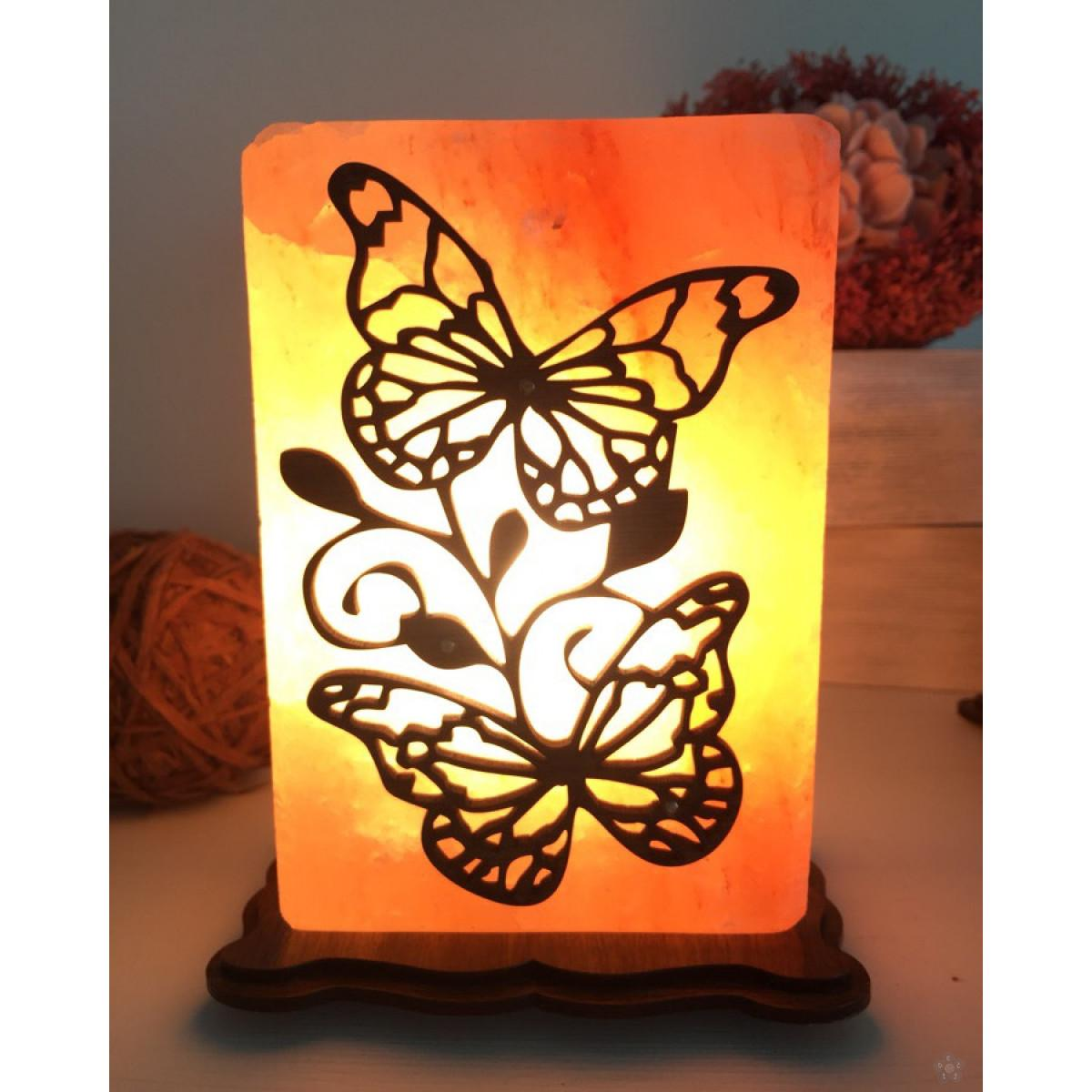 Slana lampa Leptiri od himalajske soli