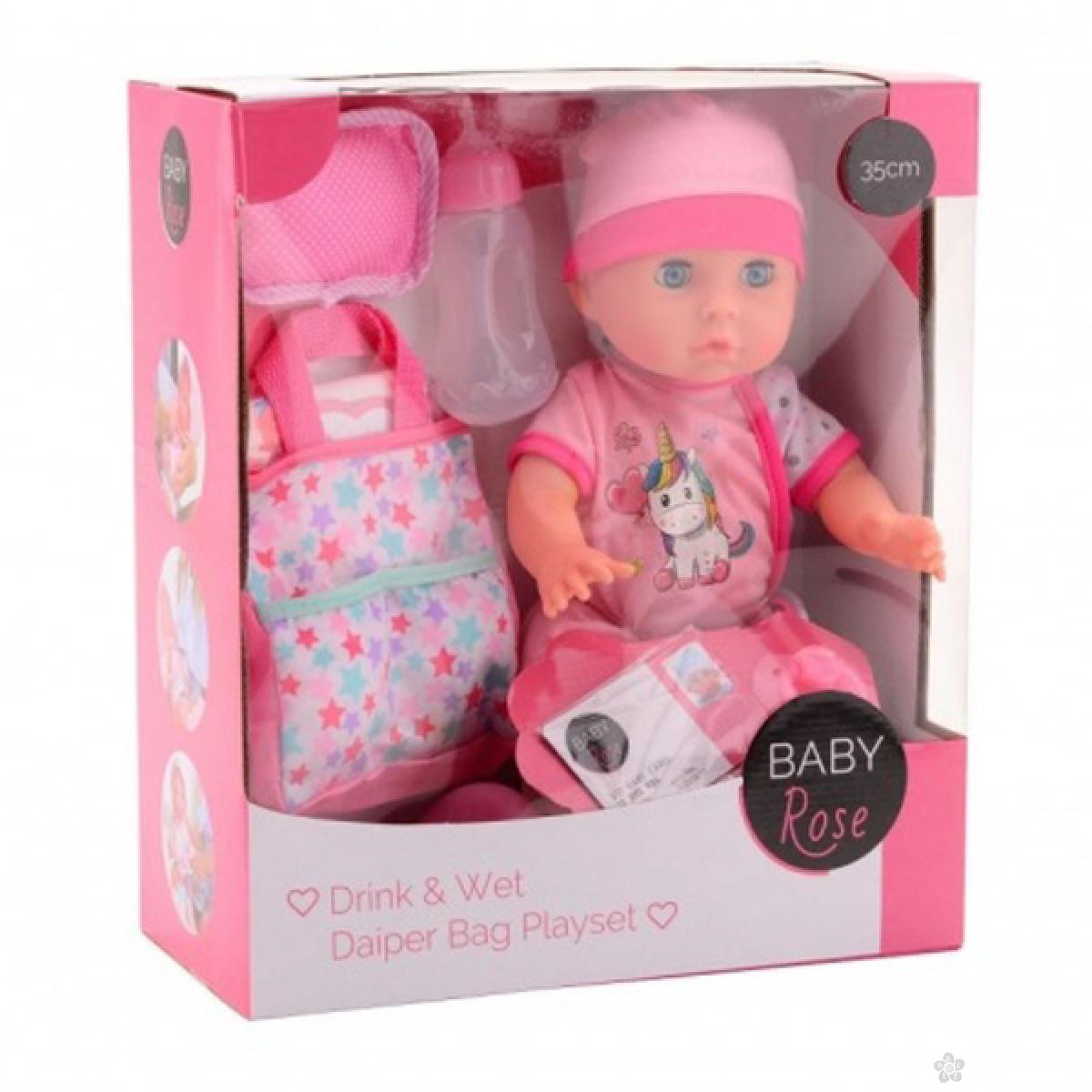 Lutka Beba Rose sa priborom za povijanje 35cm