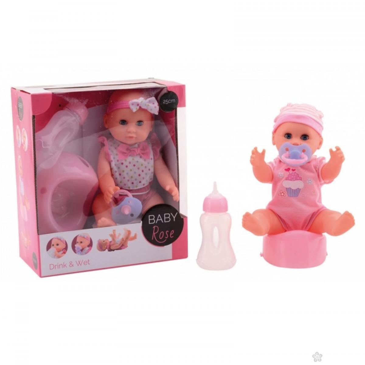 Lutka Beba Rose pije i piški; 25cm
