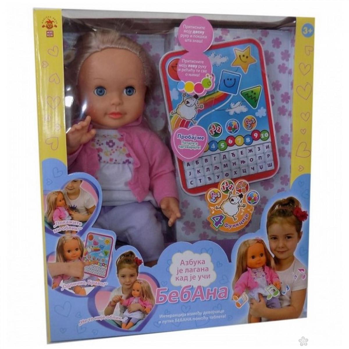 Interaktivna lutka beba BEBANA sa tabletom 39742