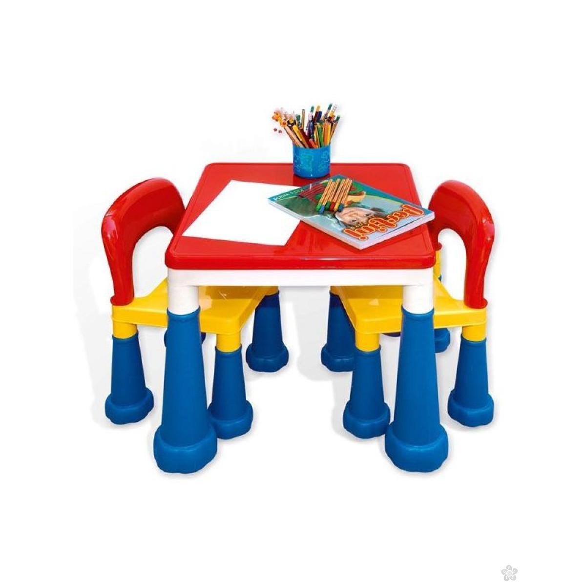 Kreativno-didaktički stočić sa stolicama