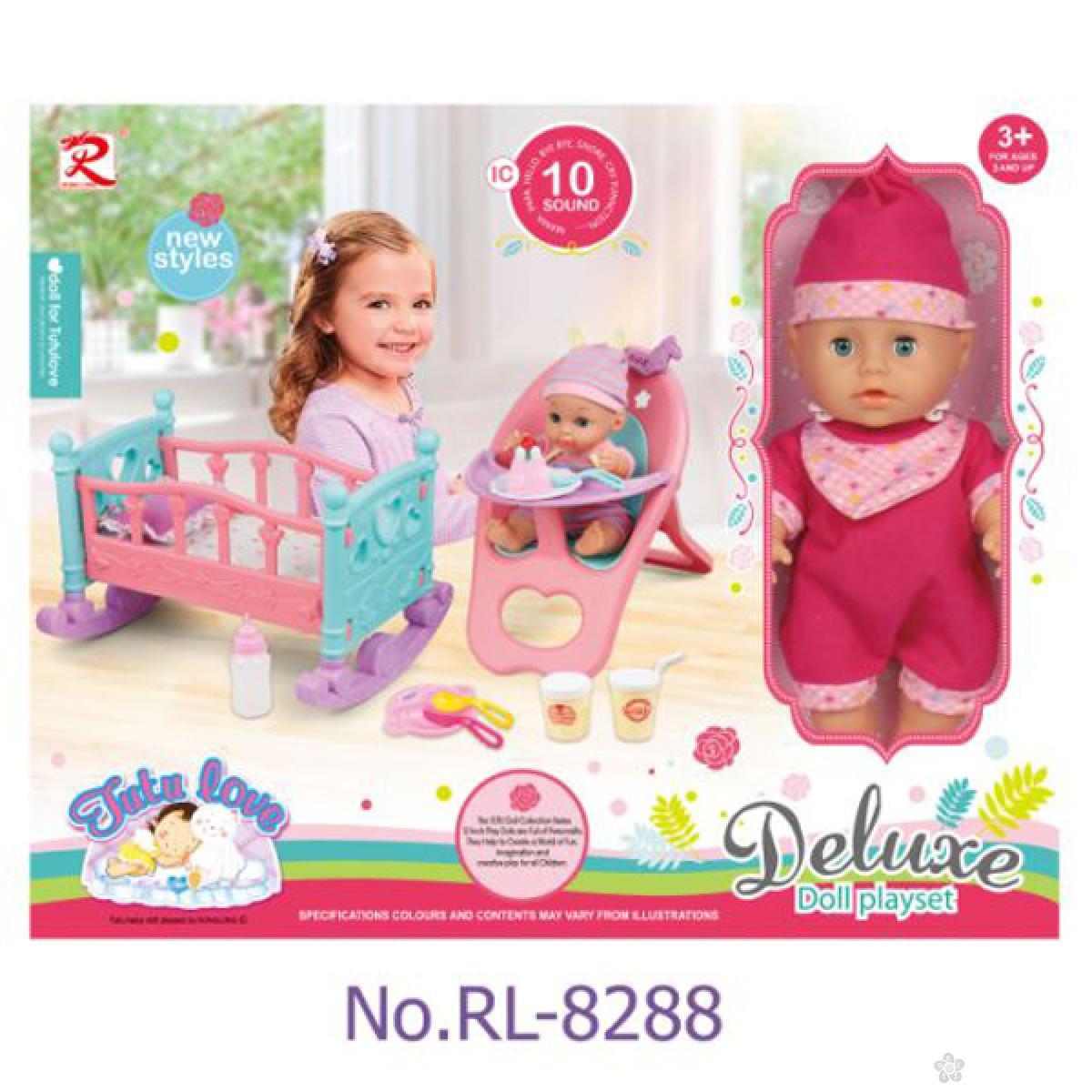 Lutka beba sa kolevkom i hranilicom 31/8288