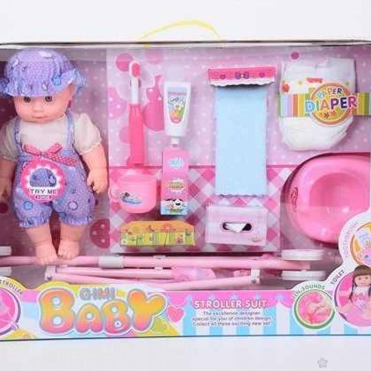 Lutka beba sa kolicima i dodacima 11/05552