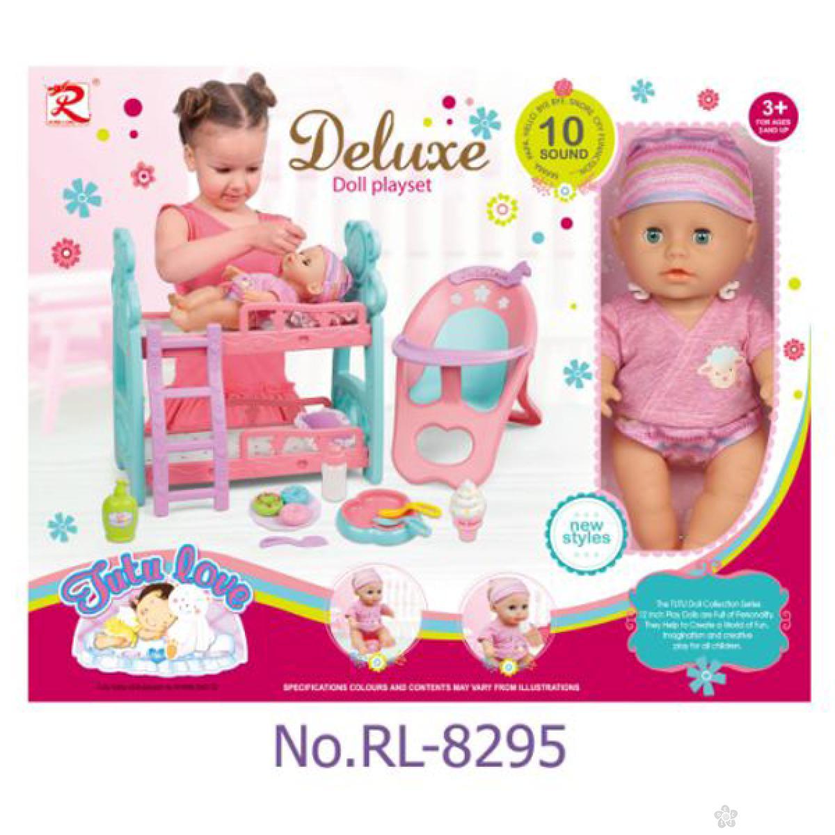 Lutka beba sa krevetom i hranilicom 31/8295