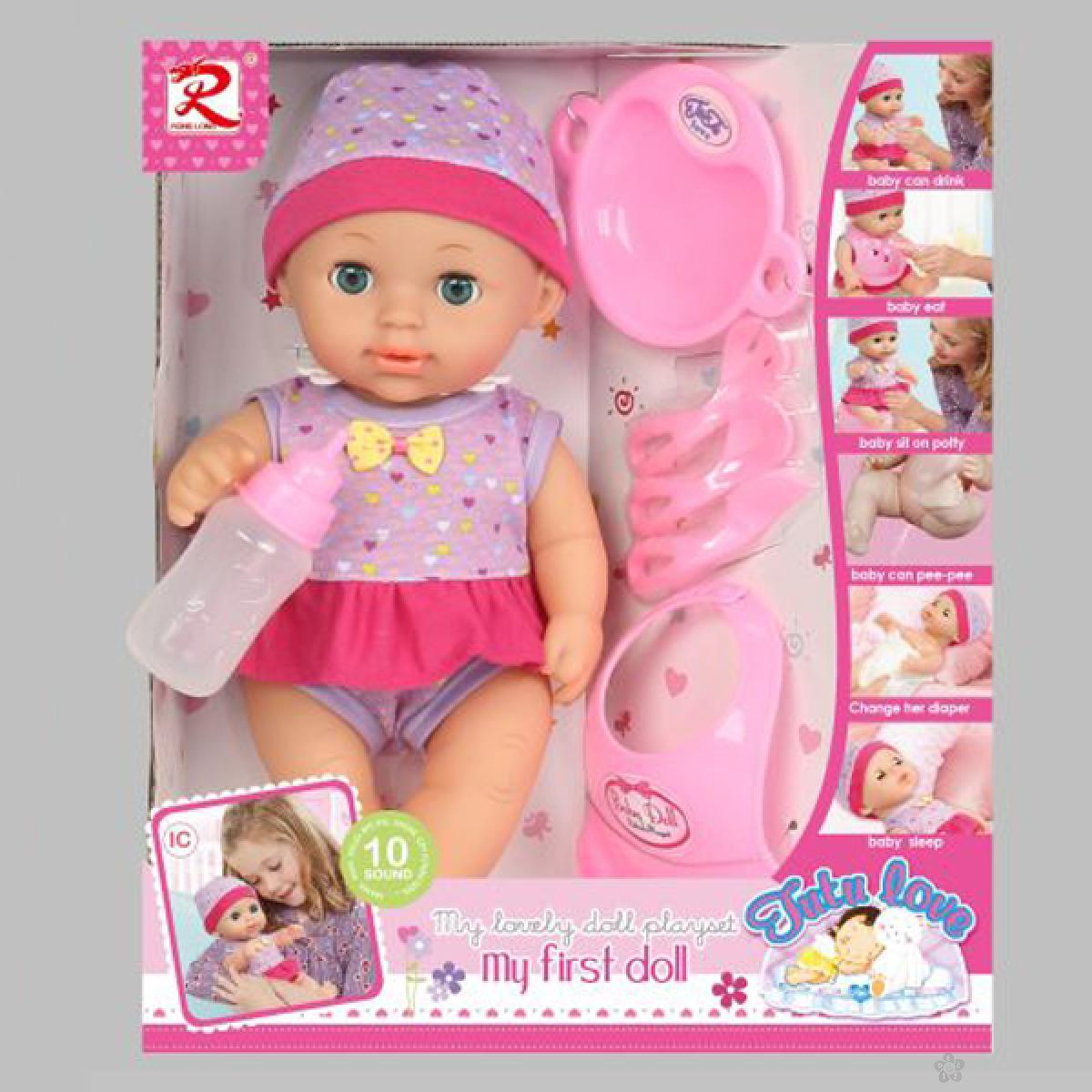 Lutka beba sa setom za hranjenje 31/8120