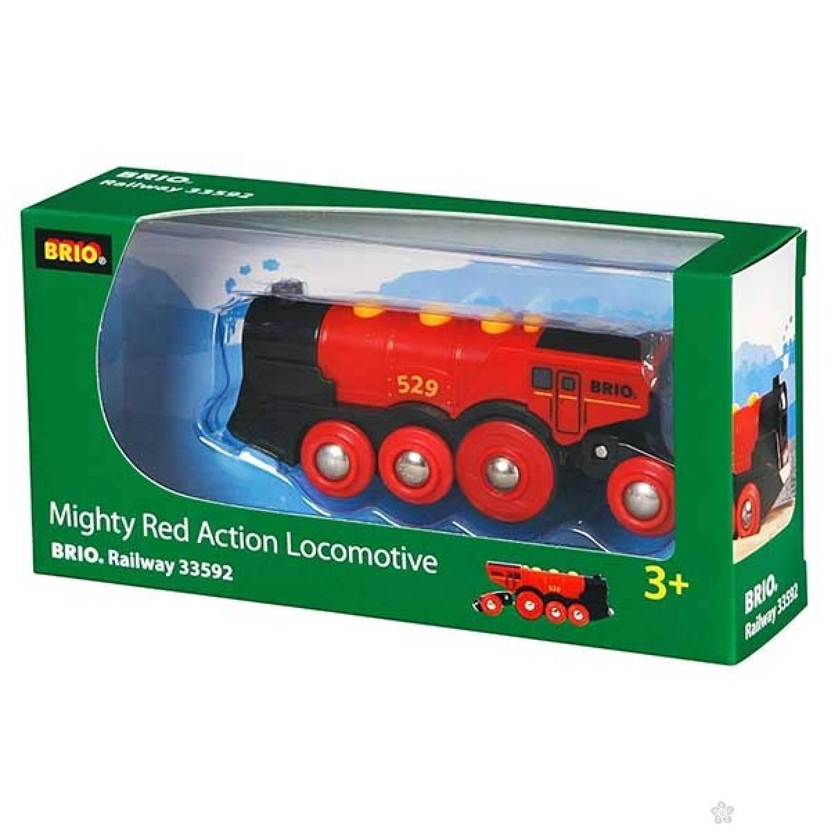 Crvena lokomotiva Brio BR33592