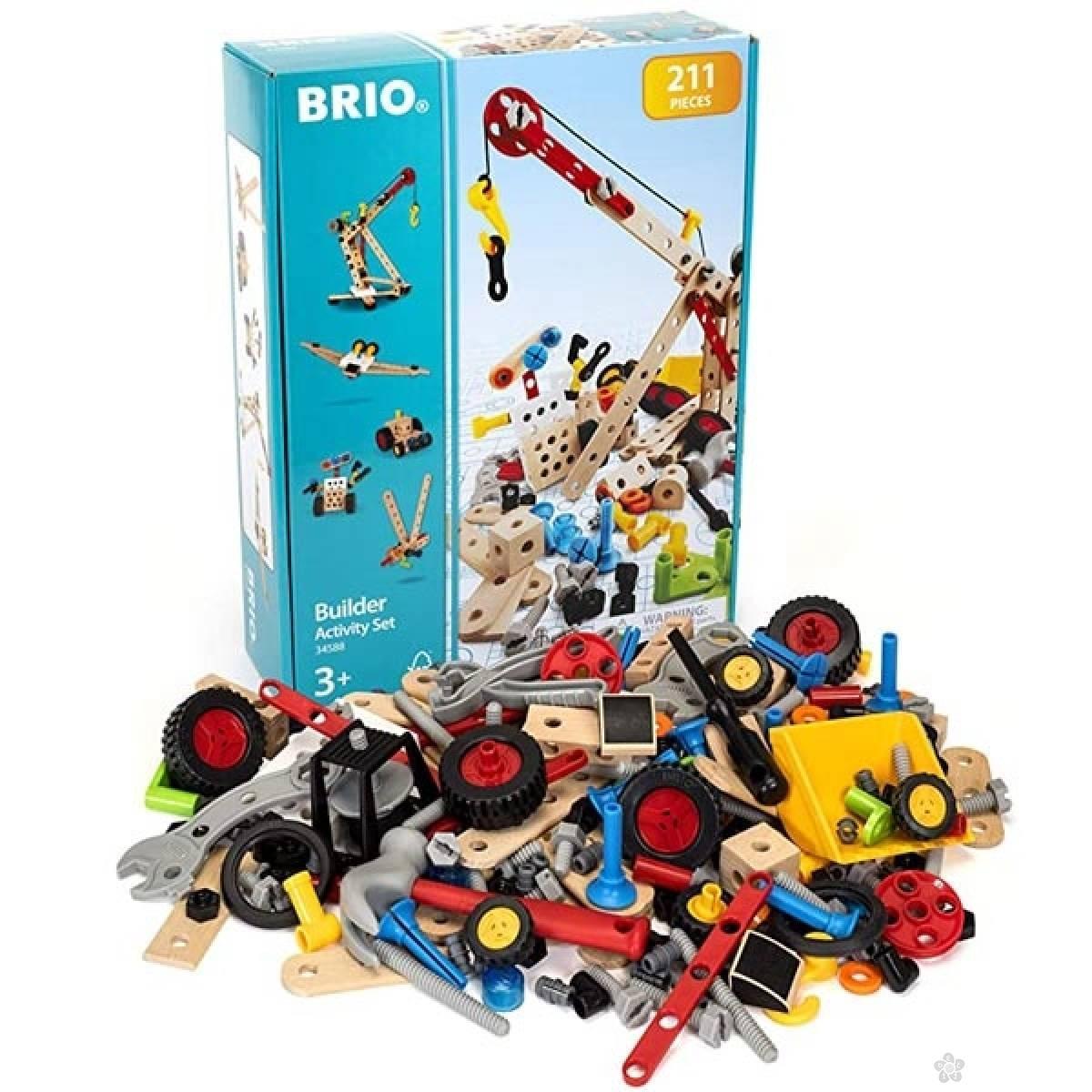 Graditeljski aktivni set 211 delova Brio BR34588