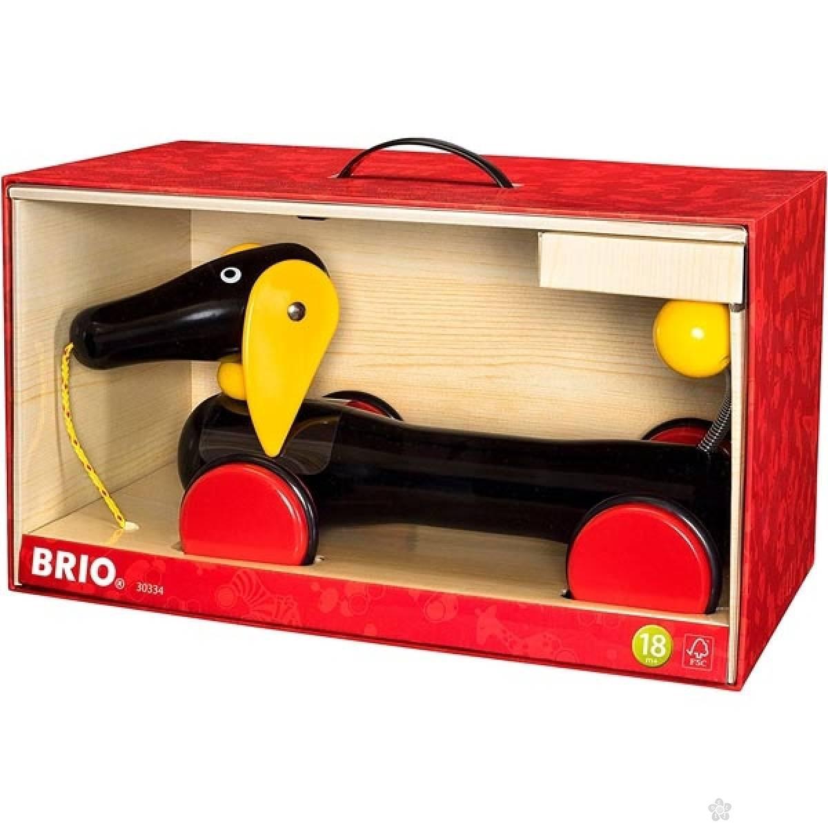 Pas drveni na potez Brio - veliko pakovanje BR30334