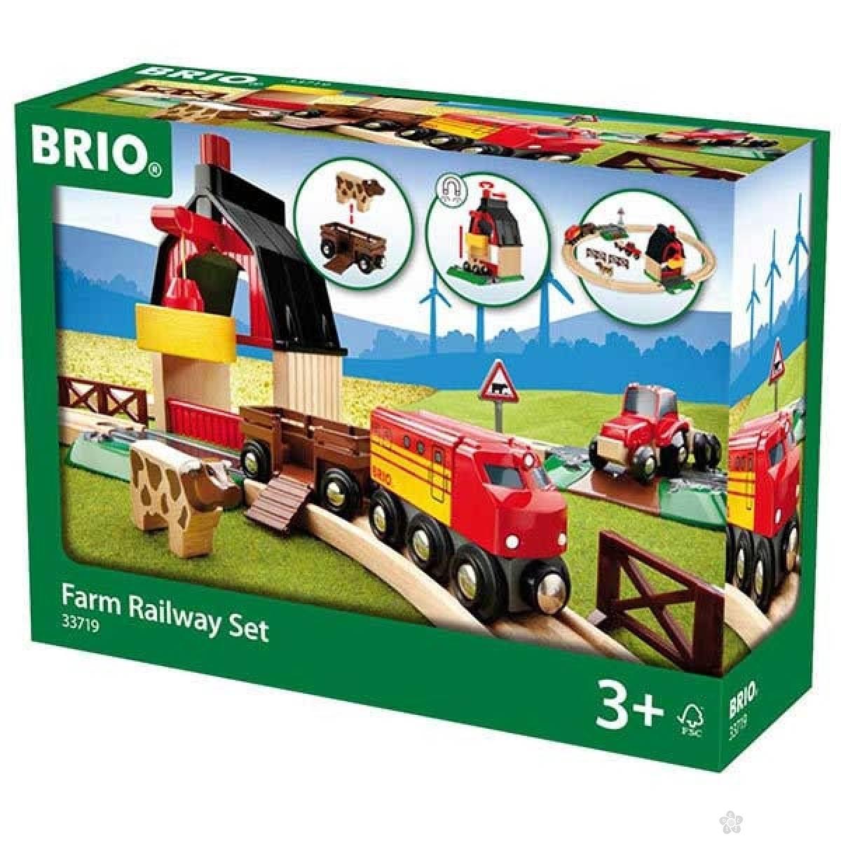 Set vozova Farma Brio BR33719