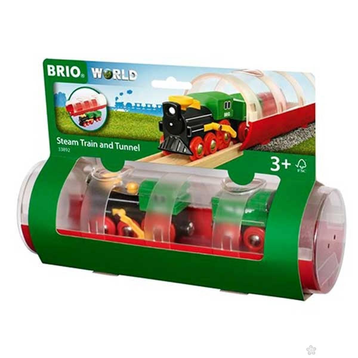 Tunel i parna lokomotiva Brio BR33892