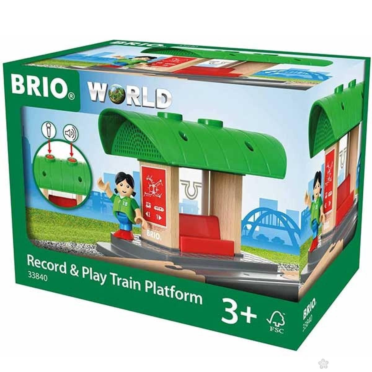 Železnička stanica s funkcijom snimanja glasa Brio BR33840