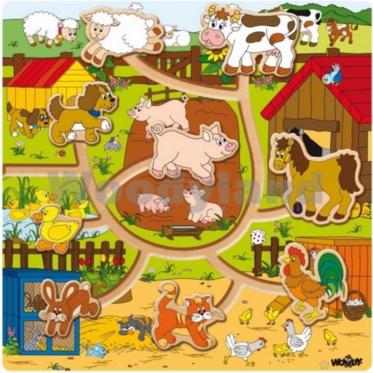 Lavirint sa životinjama na farmi 93030