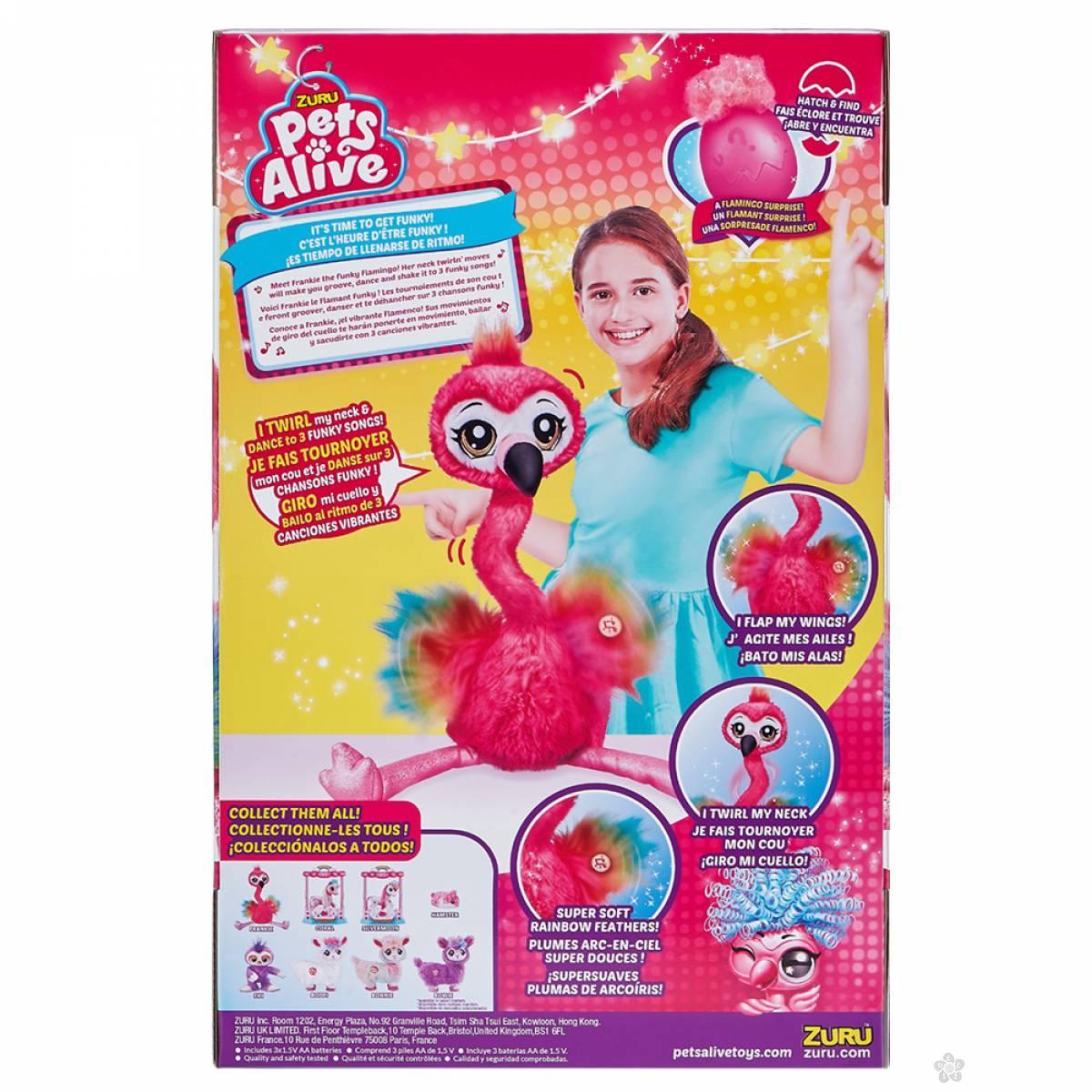 ZURU Pets Alive Frankie interaktivni flamingo denser