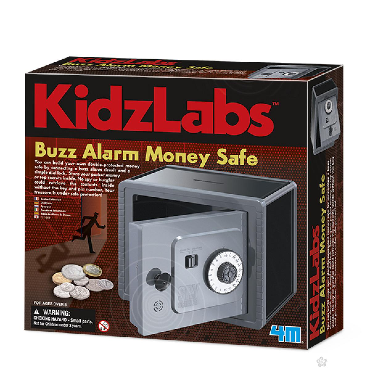 Kidzlabs Buzz alarm money safe, 4M03289