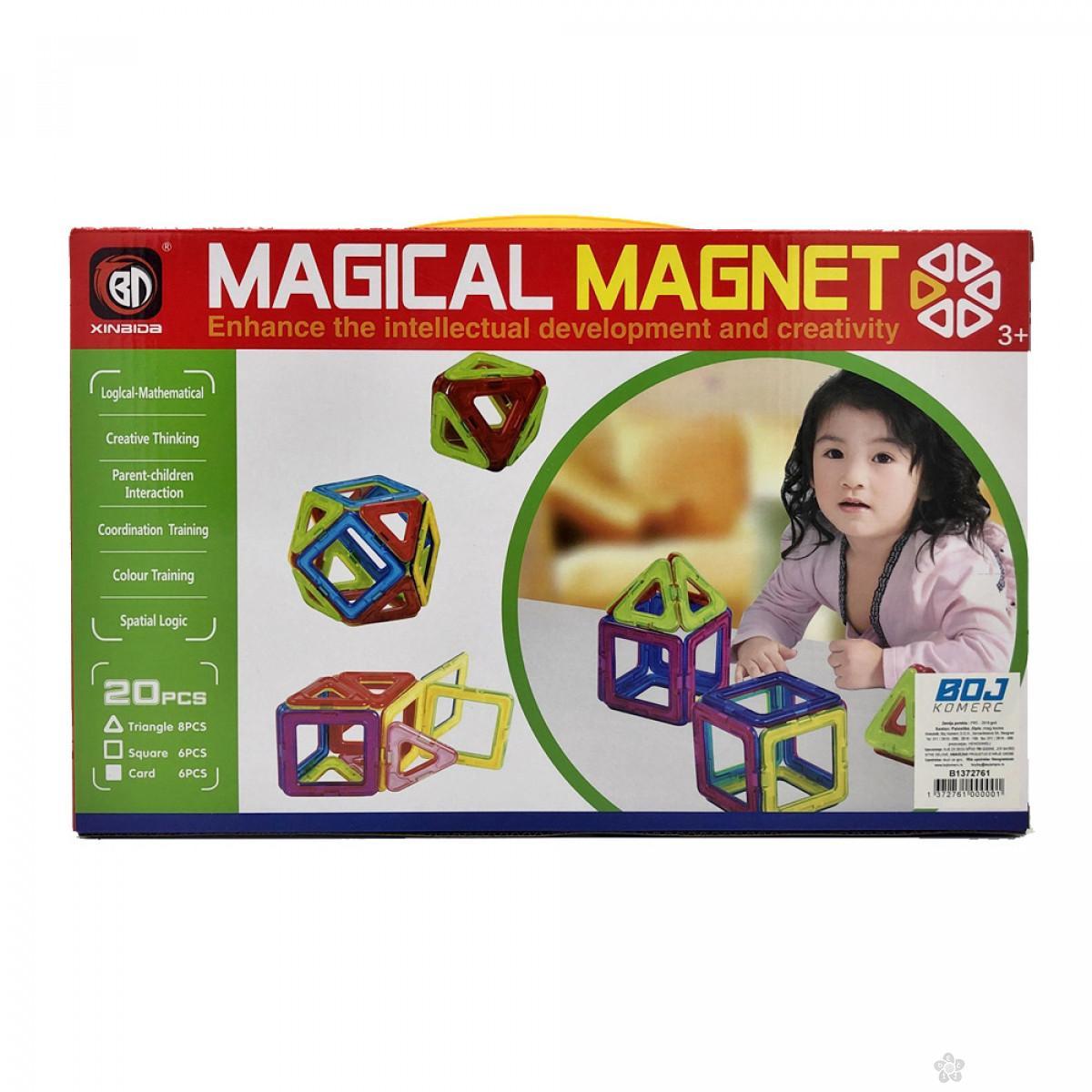Magnetne pločice kocke za igru 108185