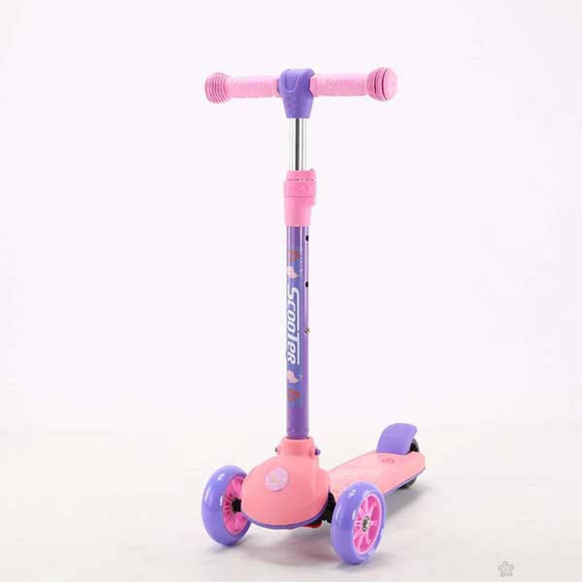 Trotinet model 651 roze-ljubičasti