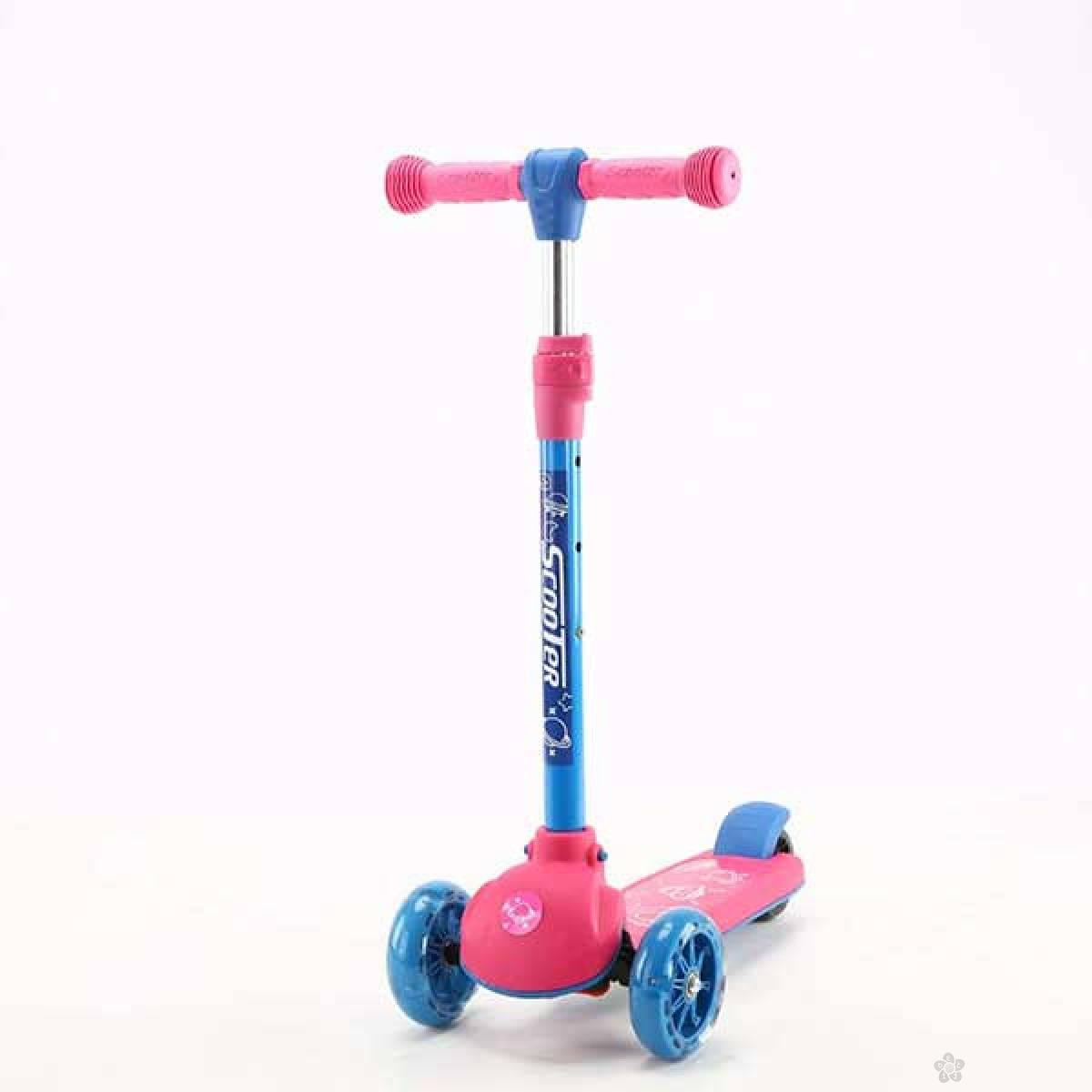 Trotinet model 651 roze-plavi