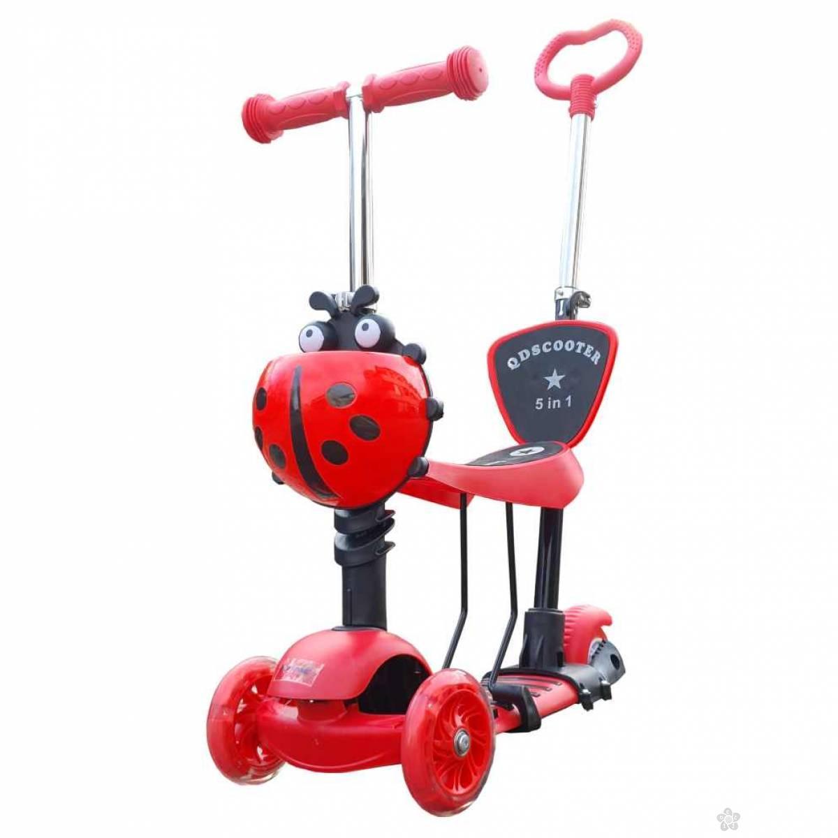Trotinet  bubamara, crveni,model 652
