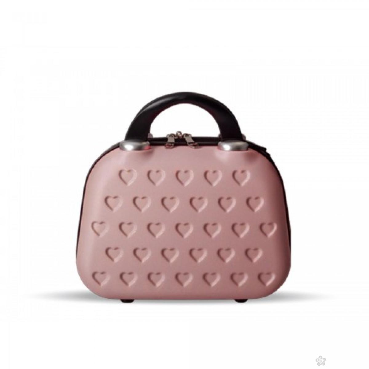 Neseser Nica, PVC pink zlatna, 100139