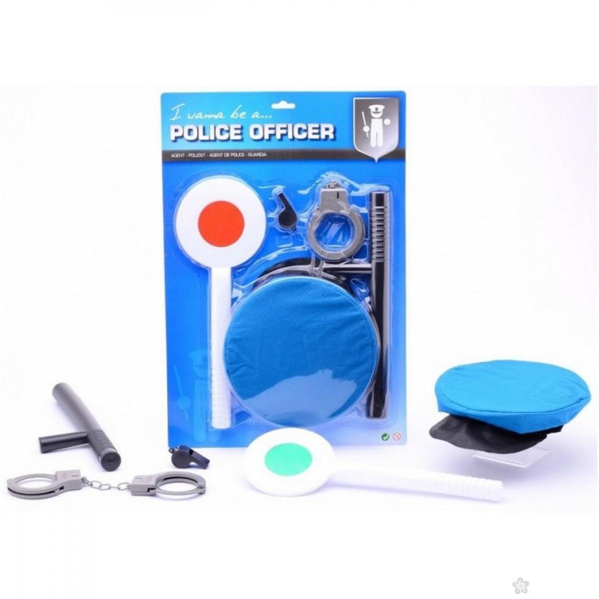 Policijski set na kartonu 5 delova 26002