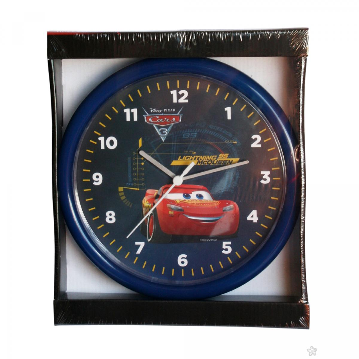 Zidni sat  Cars 25cm plavi CS924-1