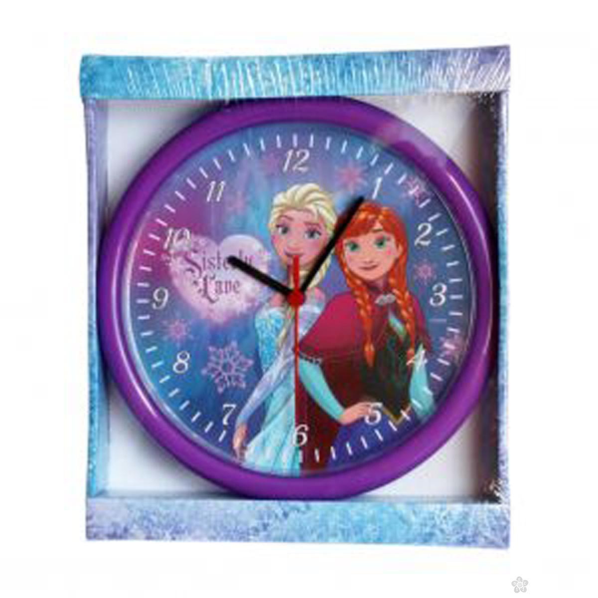 Zidni sat  Frozen 25cm ljubičasti, FZ924-1