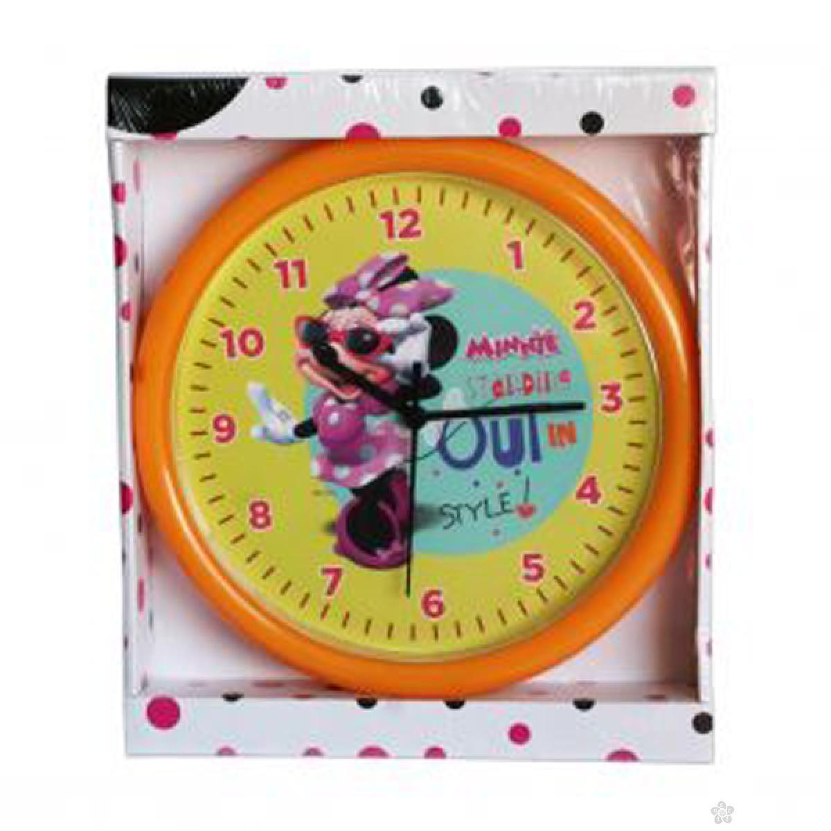 Zidni sat  Minnie Mouse 25cm žuti MN924-2