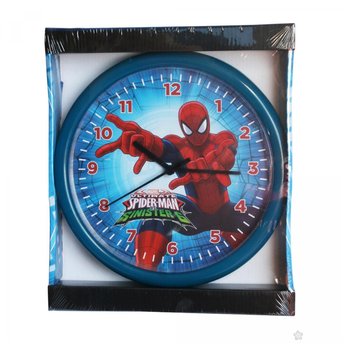 Zidni sat  Spiderman 25cm plavi SP924-1