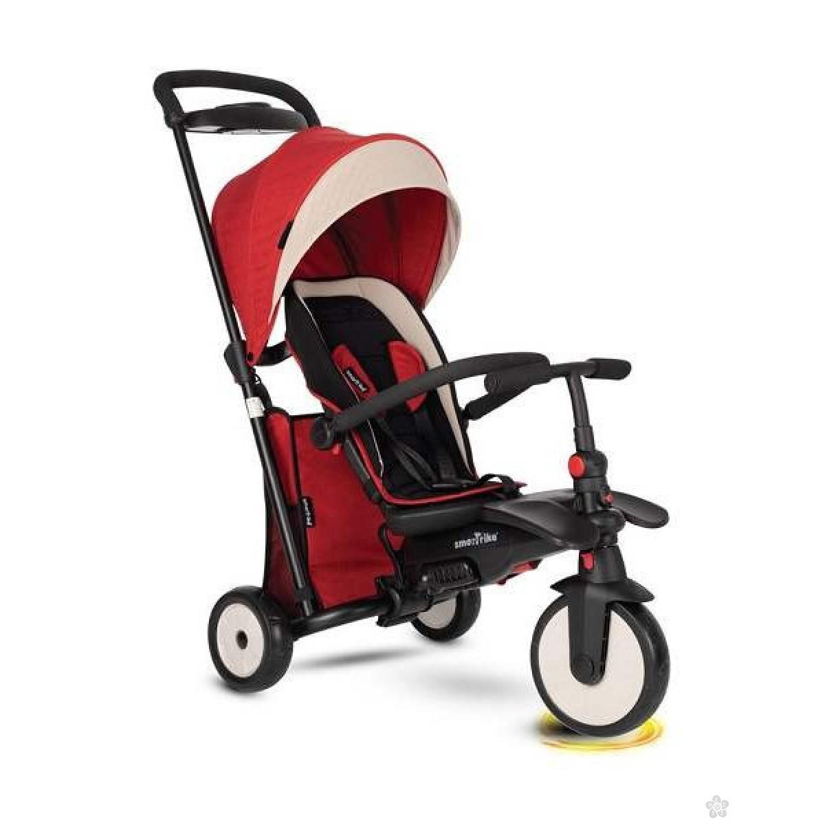 Tricikle Smart Trike Folding 500 Recliner 9M+ Red Melange