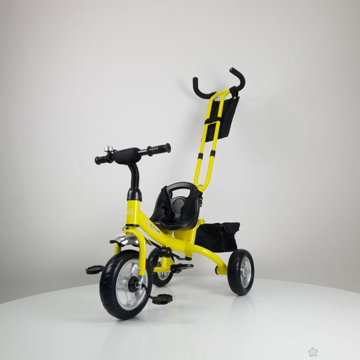 Tricikl bez tende Master model 432 žuta