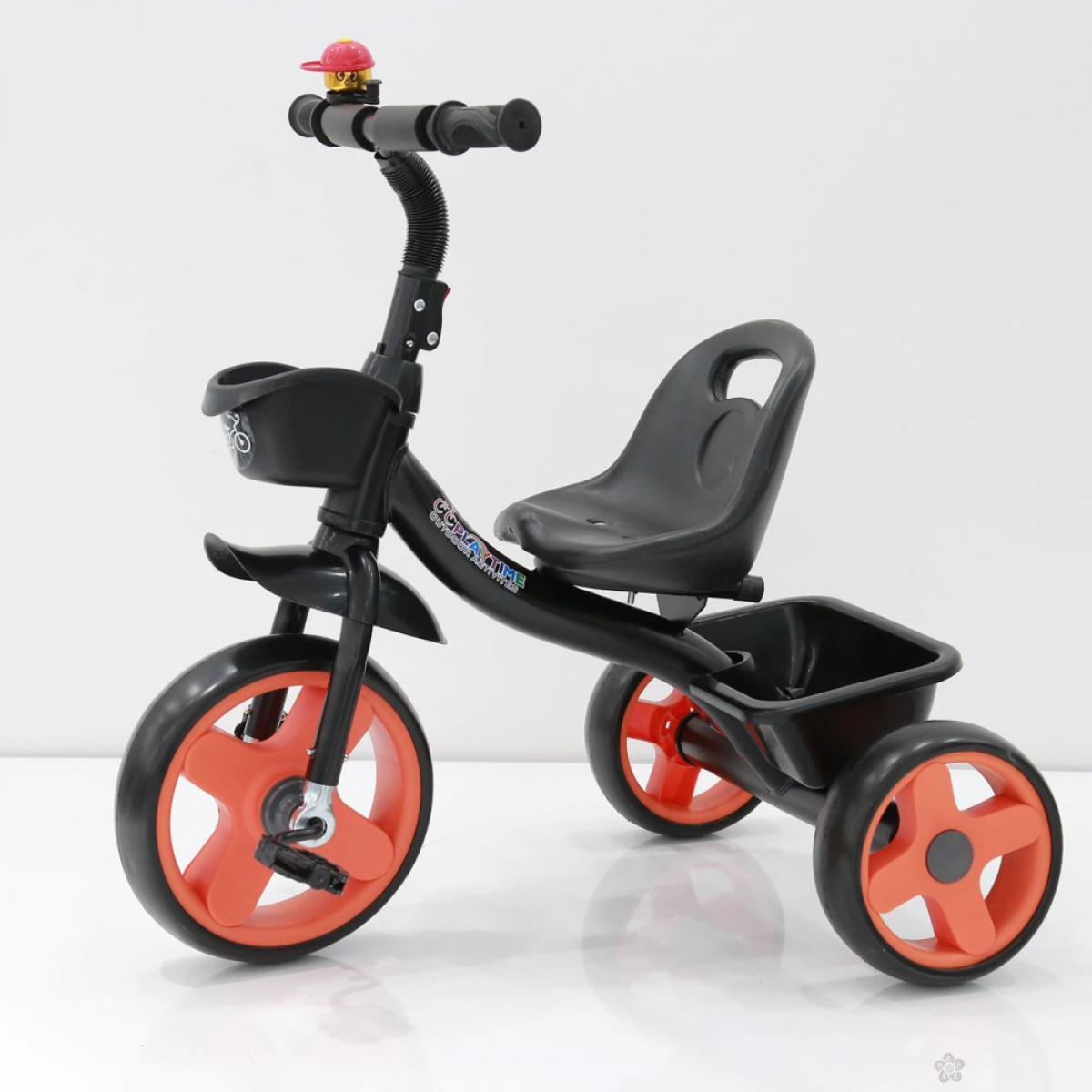 Tricikl Playtime Nani II model 426-2 crna/oranž