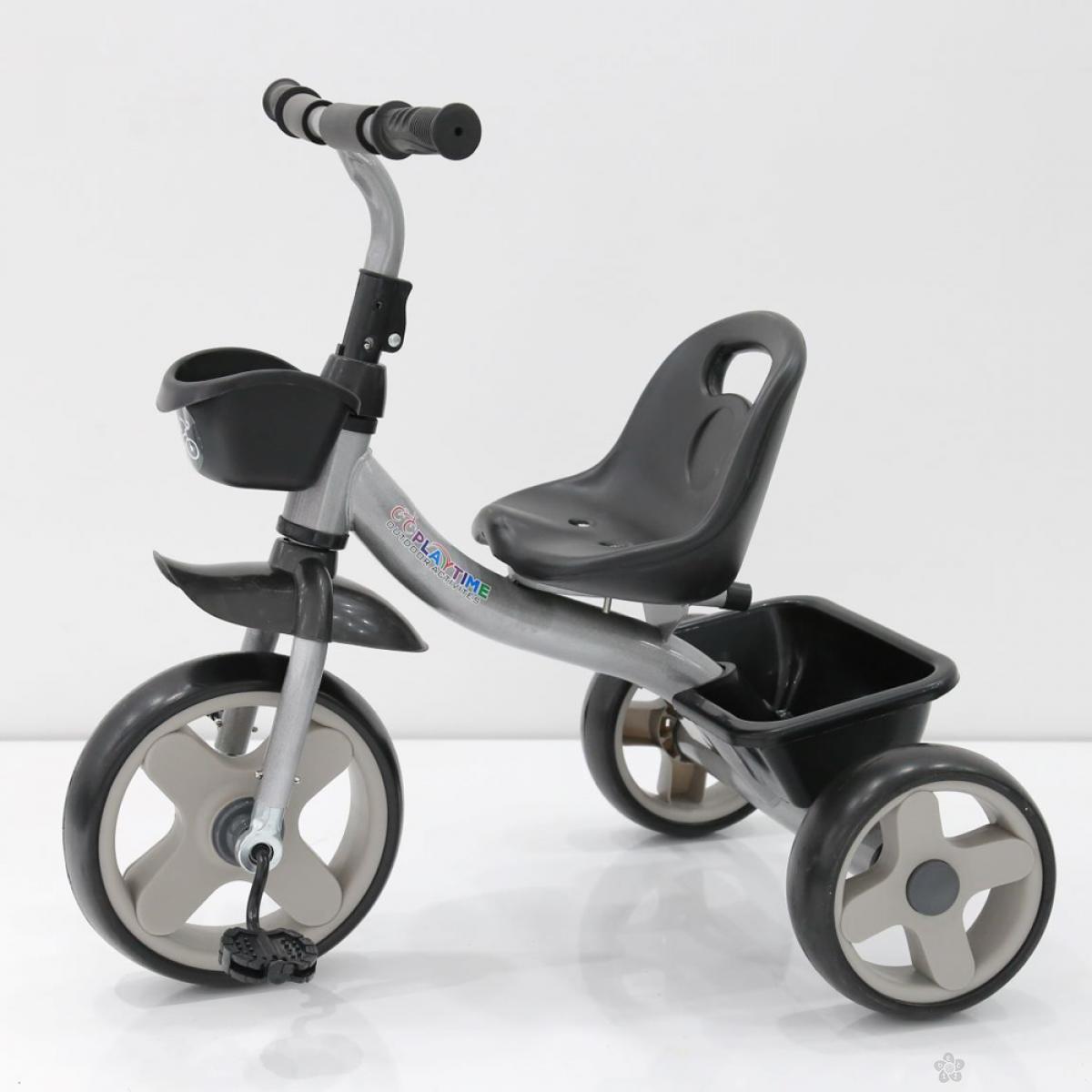 Tricikl Playtime Nani II model 426-2 sivi