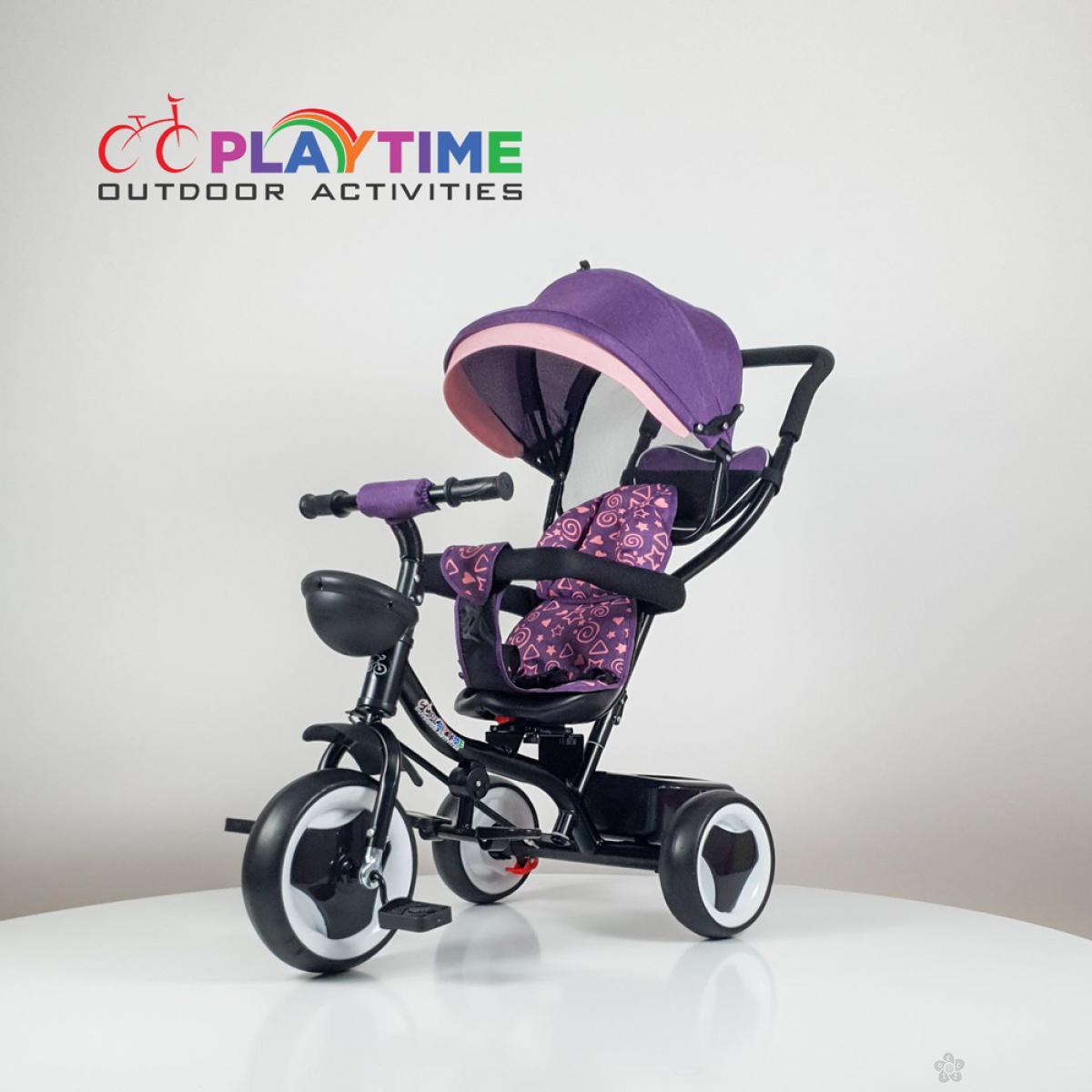 Tricikl Playtime MONI model 431 ljubičasti