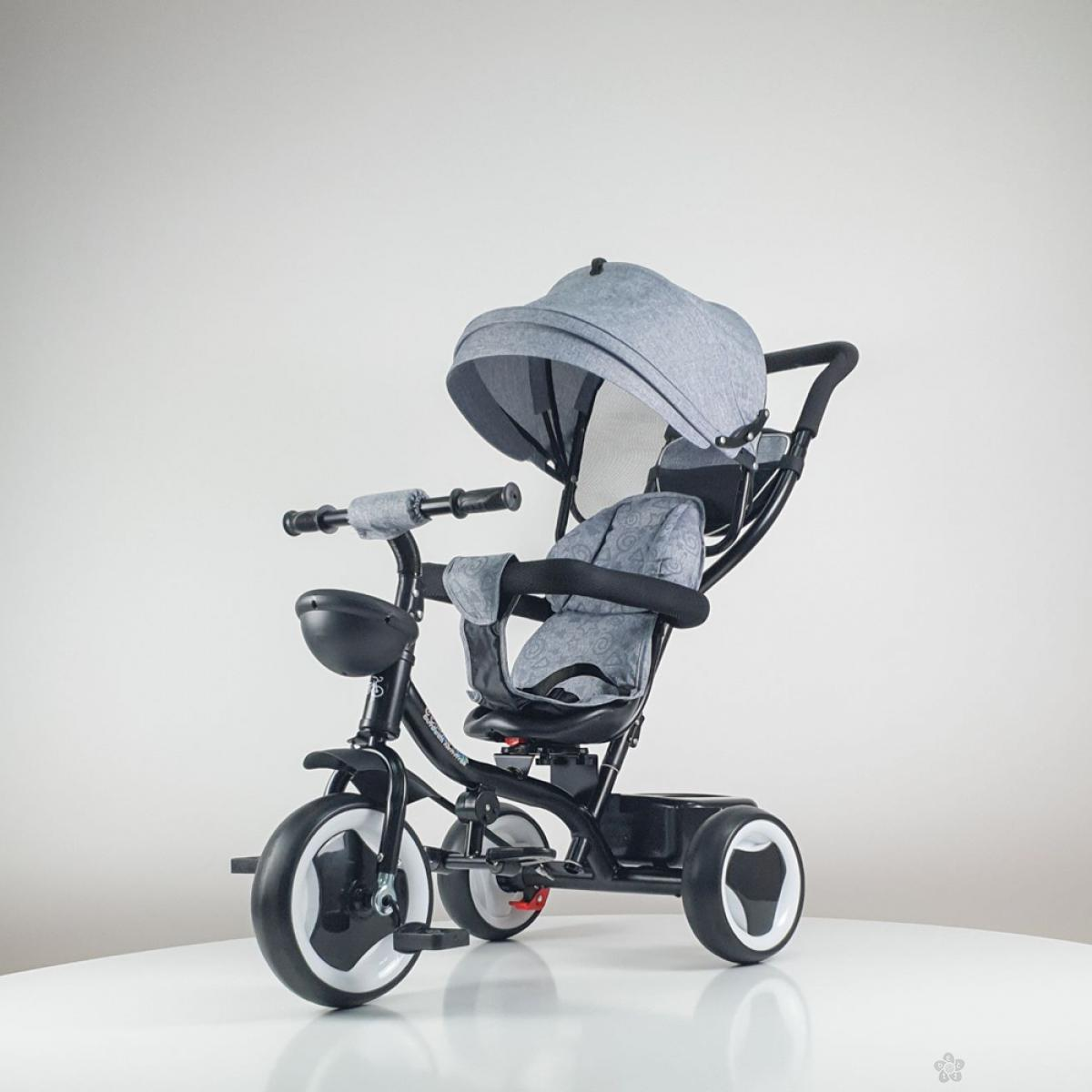 Tricikl Playtime MONI model 431 sivi