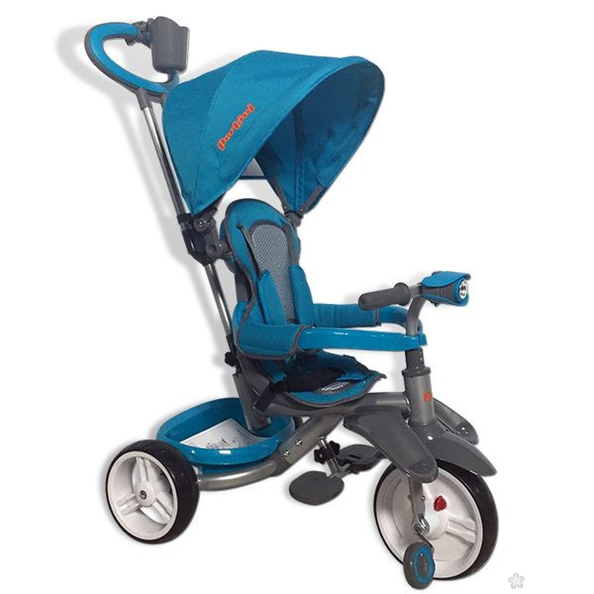 Tricikl sa svetlima Z100 plavi