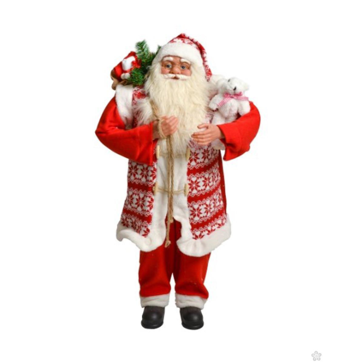 Deda Mraz Deco Santa, crveni, 45 cm