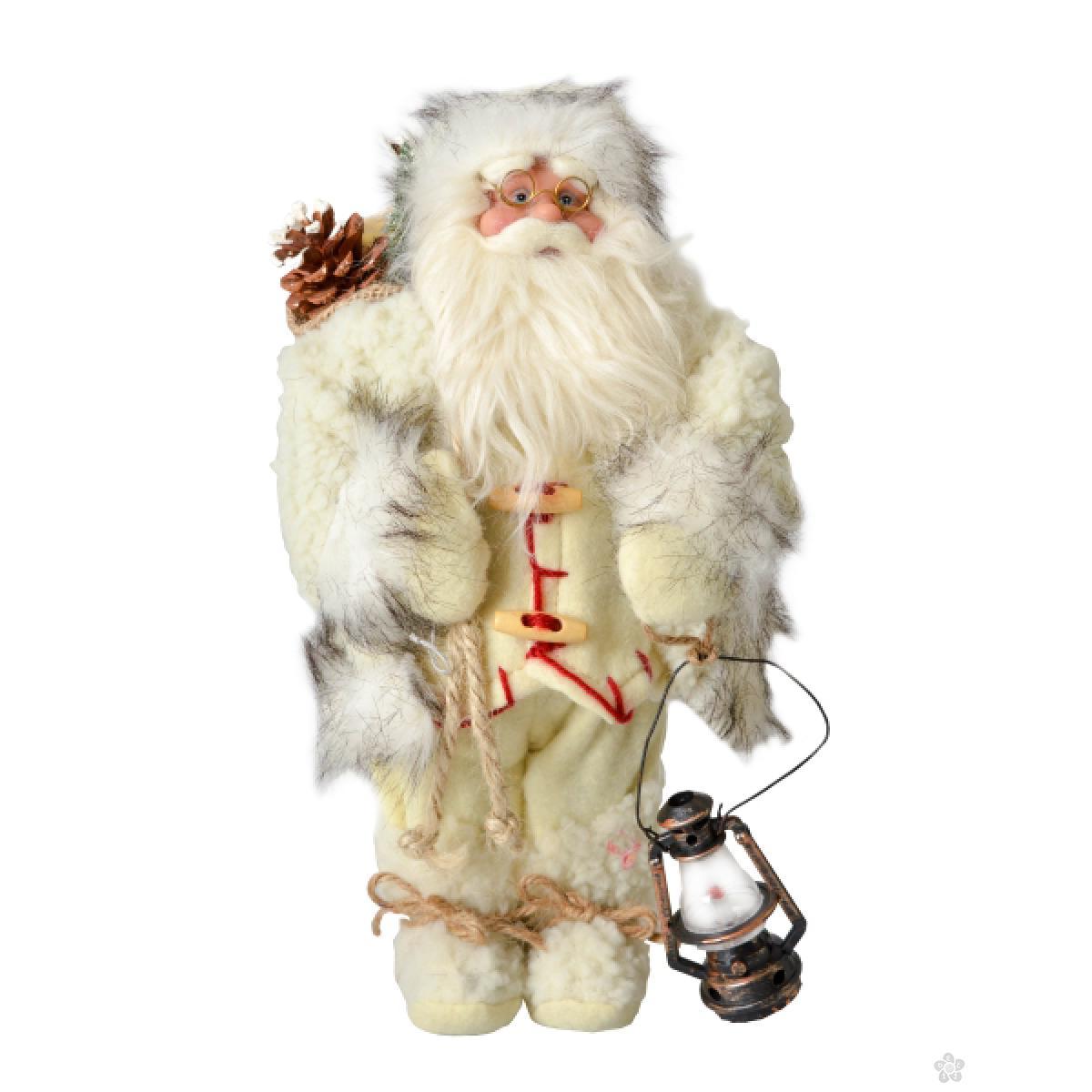 Deda Mraz Deco Santa, 30cm, beli 740651