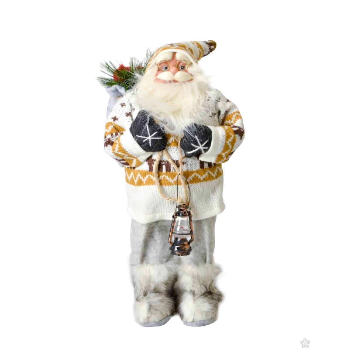 Deda Mraz Deco Santa, 30cm, sivi 740652