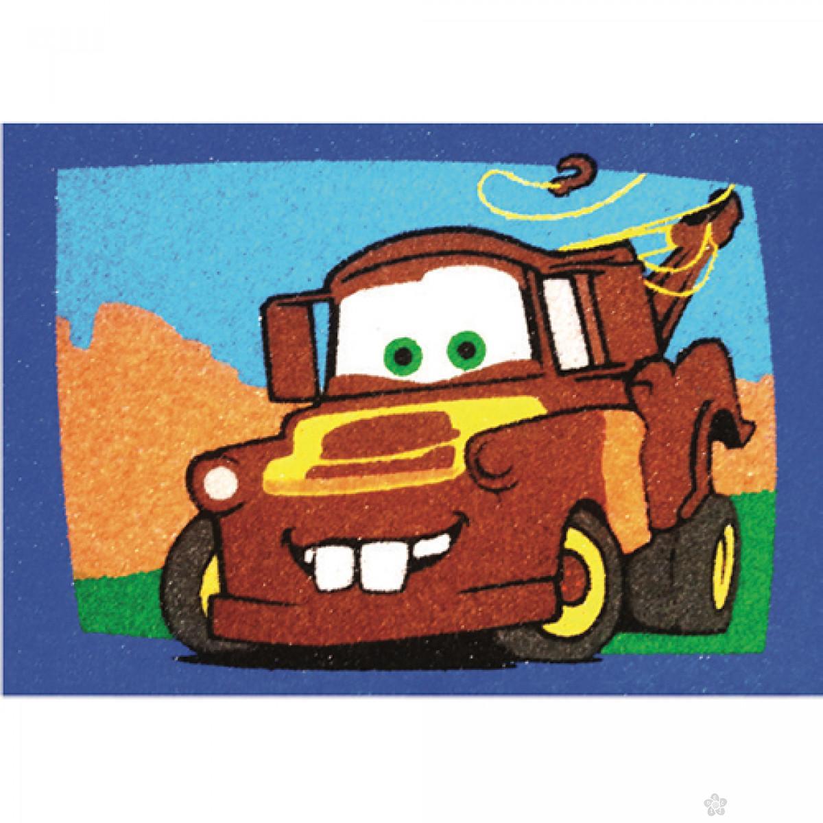 Munja MCQueen i Mater set za slikanje peskom 2 u 1