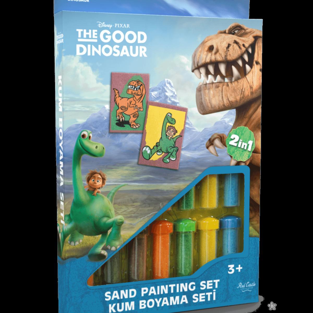 Dobri Dinosaurus set za slikanje peskom 2 u 1