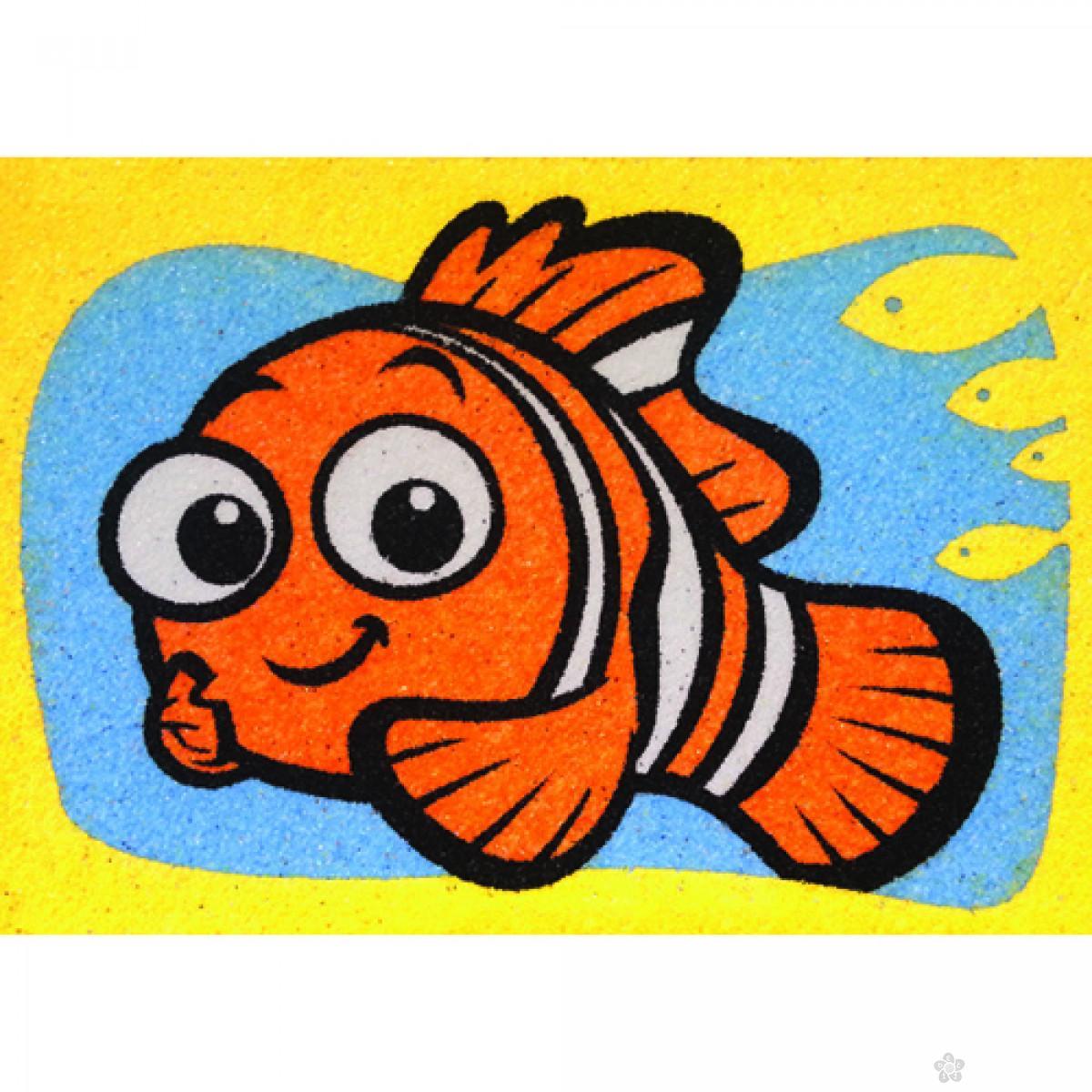 Nemo i Squirt set za slikanje peskom 2 u 1