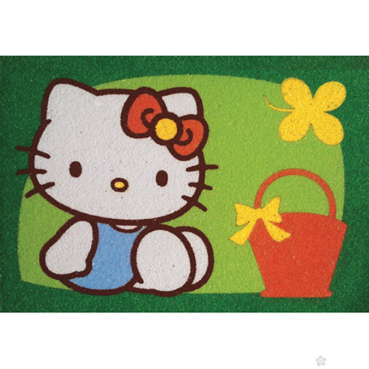 Hello Kitty set za slikanje peskom 2 u 1