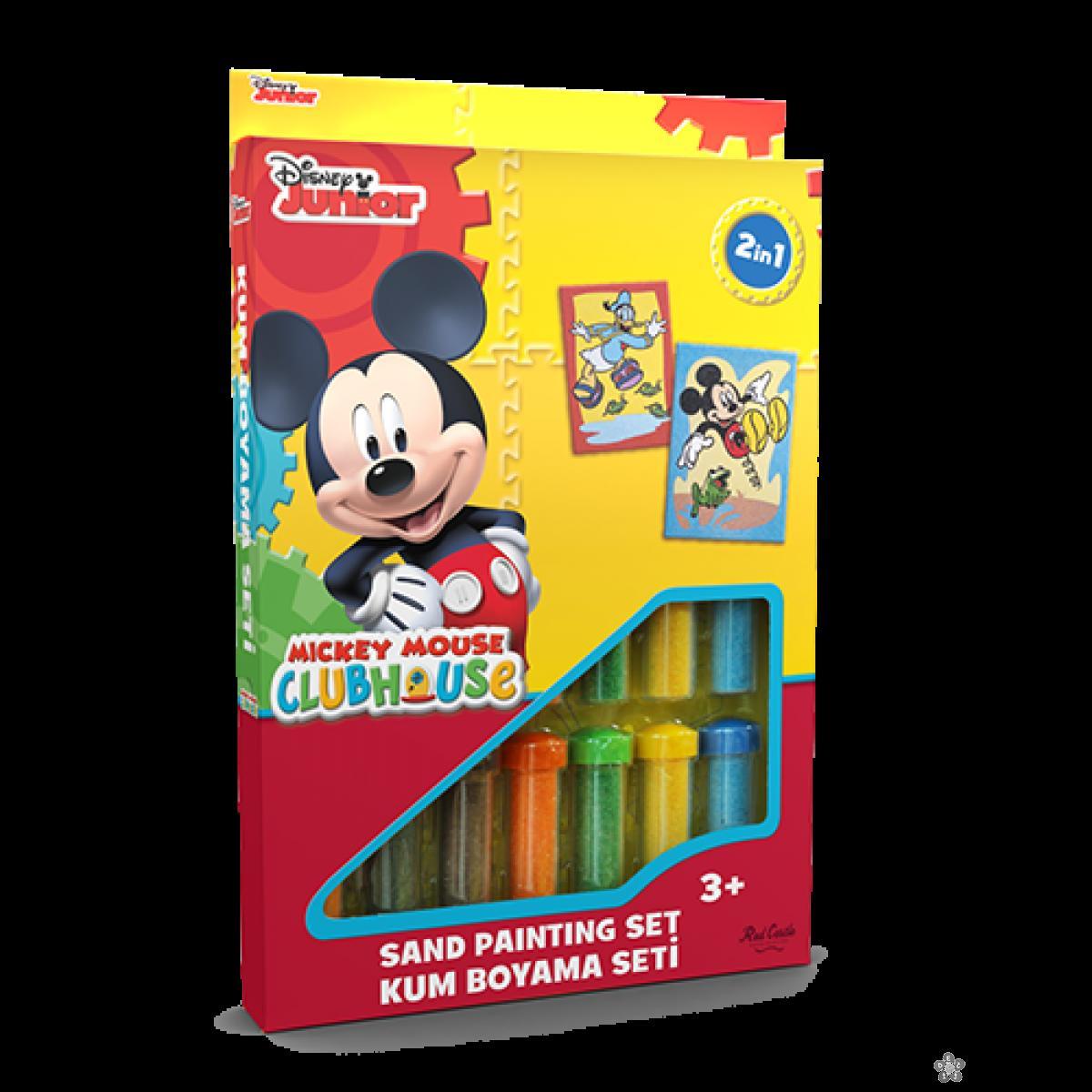Mickey Mouse set za slikanje peskom 2 u 1